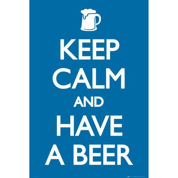 Gravura para Quadros Frase Keep Calm And Have a Beer - Gn0592 - 60x90 Cm