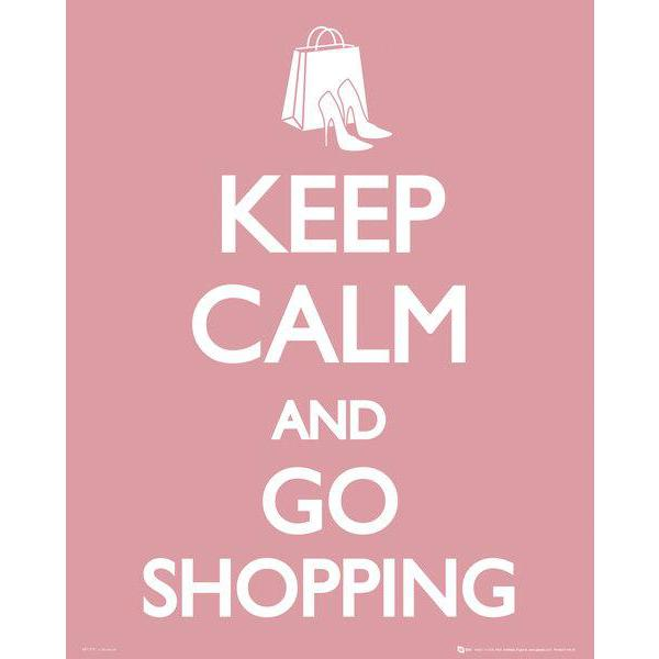 Gravura para Quadros Humor Keep Calm And Go Shopping - Mp1279 - 40x50 Cm