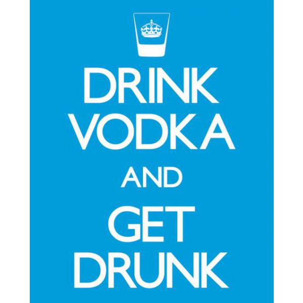 Gravura para Quadro Humor Drink Vodka And Get Drunk - Mpp50334 - 40x50 Cm