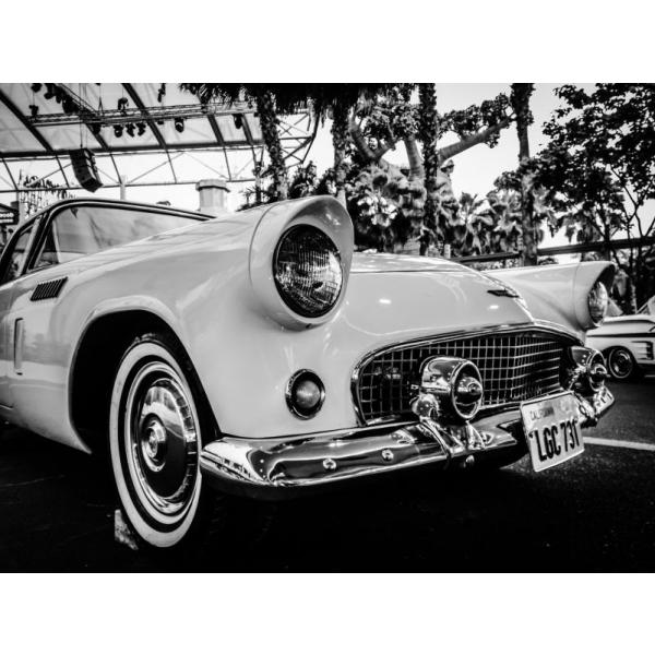 Gravura para Quadros Decorativos Black And White Vintage Car Afi1418