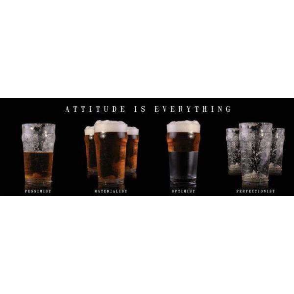 Gravura para Quadros Bebidas Attitude Is Everything - Mcpp60032 - 90x30 Cm