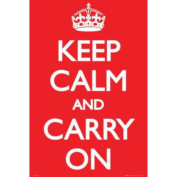 Gravura para Quadro Keep Calm And Carry On - Gn0527 - 60x90 Cm