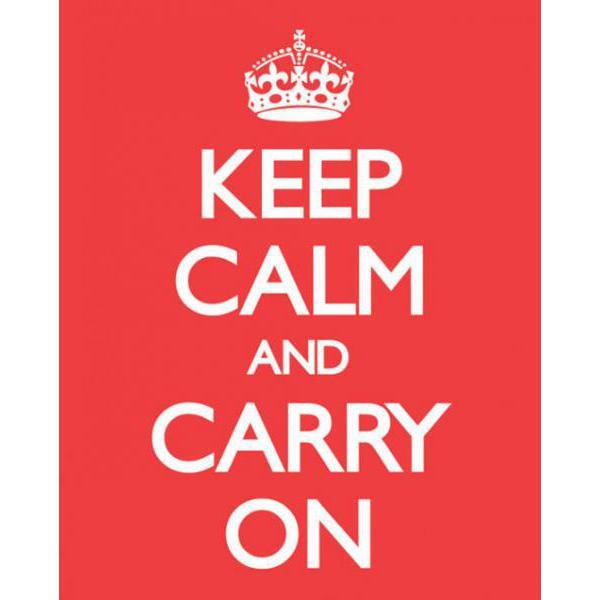 Gravura para Quadro Humor Keep Calm And Carry On - Mpp50349 - 40x50 Cm