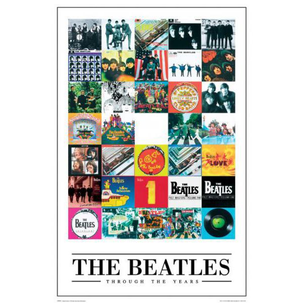 Gravura com Diversas Foto da Banda The Beatles Lp0594 - 60x90 Cm