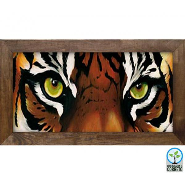 Quadro Decorativo Inovare Face de Tigre - In0074 - 81x44 Cm