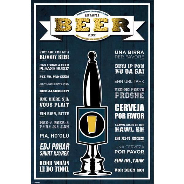 Gravura para Quadros Can I Have a Beer Please - Pp32930 - 60x90 Cm