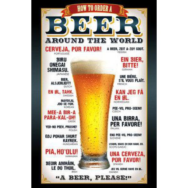 Gravura para Quadros Beer Around The World - Gn0543 - 60x90 Cm
